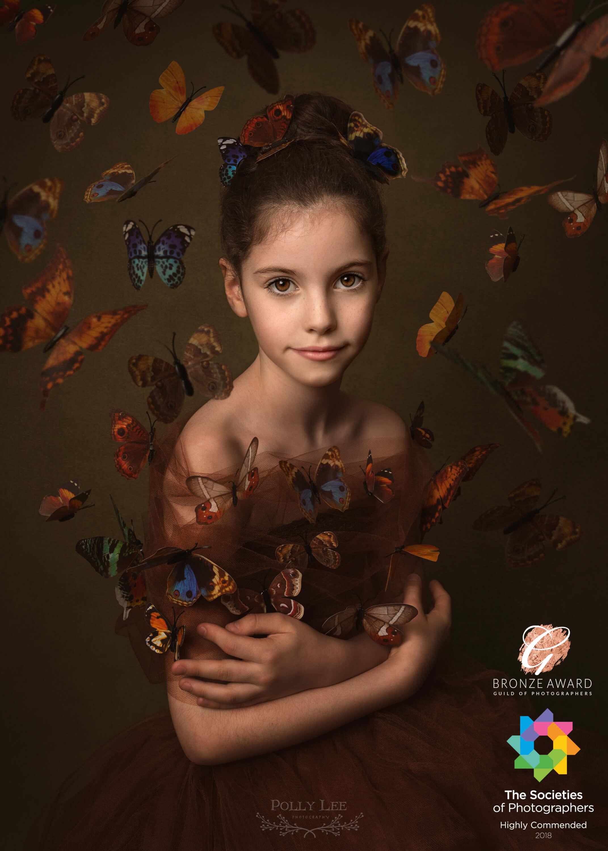 Butterflies child portrait