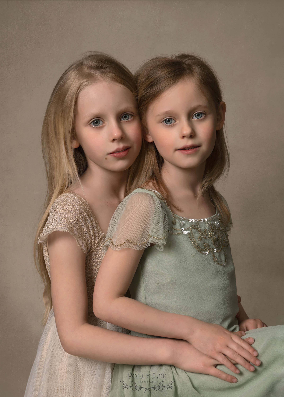 Sister child portrait