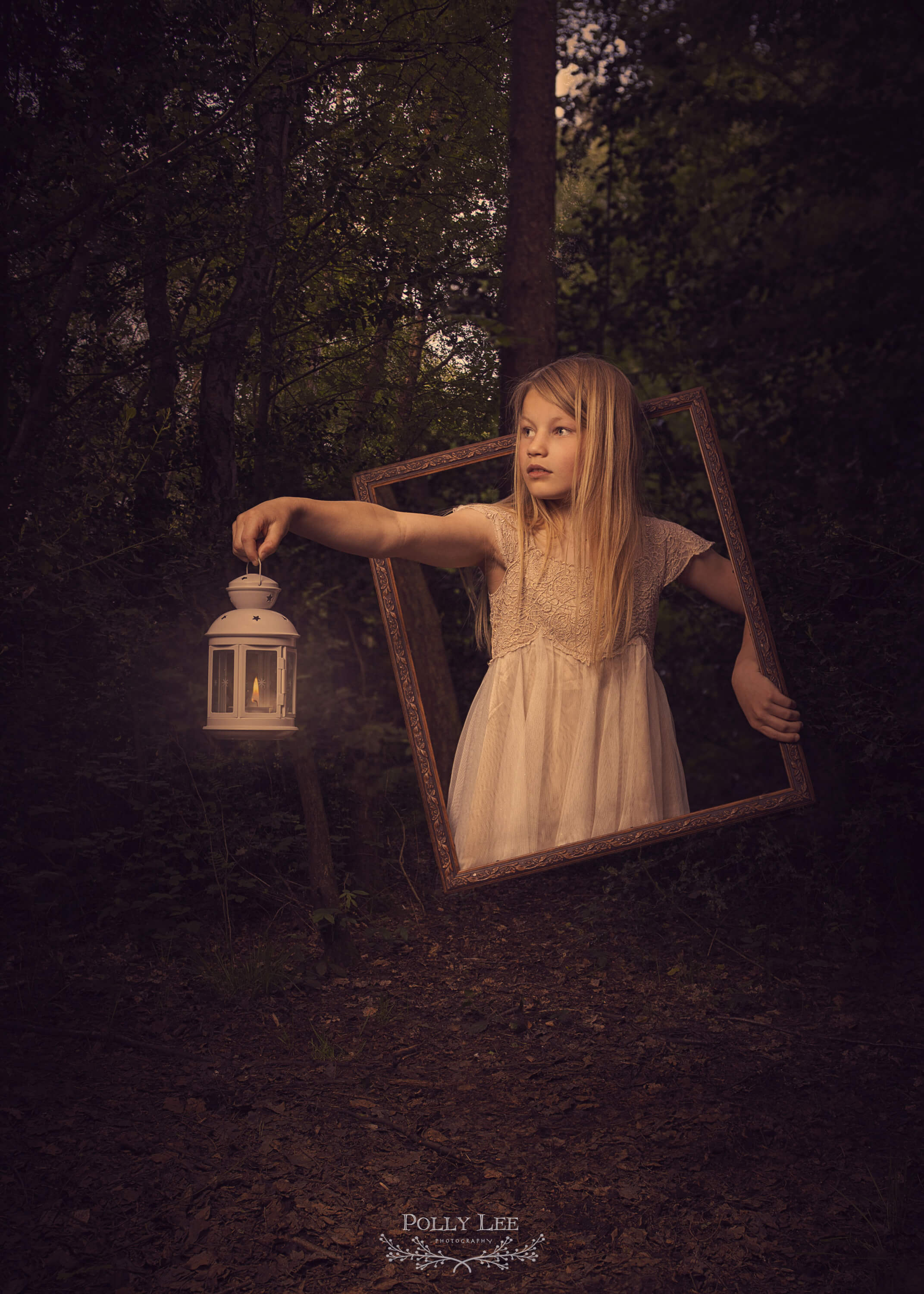 Magical children's forest photography