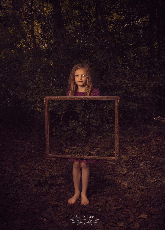Magical children's forest portrait